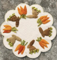 Bunnies and Carrots Spring Mat