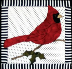 Cardinal Quilt Board
