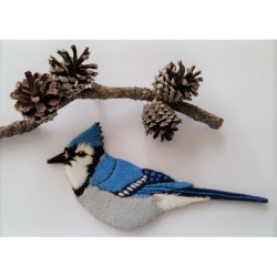 Blue Jay Ornament Kit