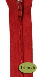 """Zipper 14"""" Red River"""