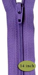 "Zipper 14"" Princess Purple"