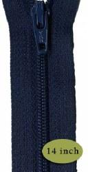 """Zipper 14"""" Navy Blue"""