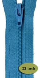 "Zipper 22"" Turquoise Splash"