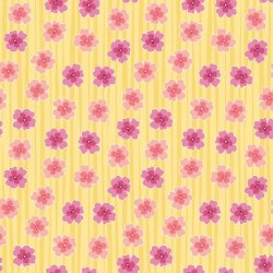 Full Bloom Floral Stripe Yello