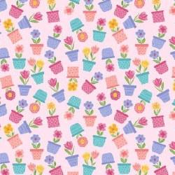 Full Bloom Flwr Pot Pale Pink