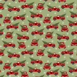 Jingle Bell Flannel Truck Gree