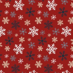 Jingle Bell Flannel Flake Red