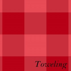 "Toweling 20"" Buffalo Check Red"