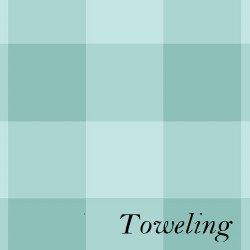 "Toweling 20"" Buffalo Check Tea"