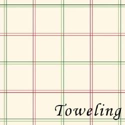 """Toweling 20"""" Plaid Cream"""
