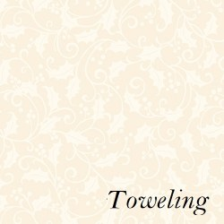 "Toweling 20"" Holly Cream"
