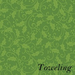"Toweling 20"" Holly Green"