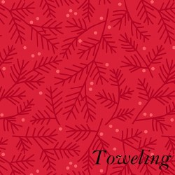 "Toweling 20"" Pine Bough Red"