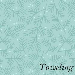"Toweling 20"" Pine Bough Aqua"