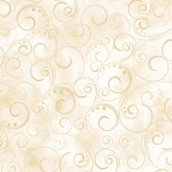 """Swirling Splendor 108"""" Cream"""