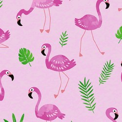 Tropical Flamingo Frenzy Pink