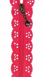 """Zipper Lace 8"""" Dark Pink"""