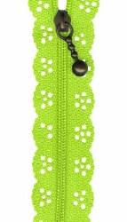 """Zipper Lace 8"""" Lime"""