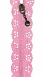 """Zipper Lace 8"""" Light Pink"""