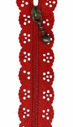 """Zipper Lace 8"""" Red"""