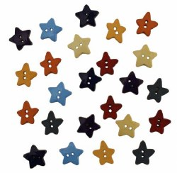 Buttons -Yellow Stars 1 1/8 in
