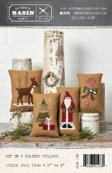 Set of 4 Medium Holiday Pillow