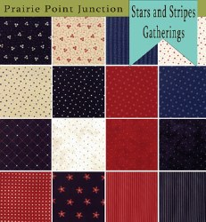 Stars and Stripes Gatherings 16 Fat Quarters