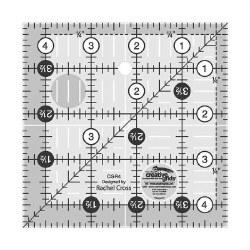 """Ruler, Creative Grid 4 1/2"""" SQ"""