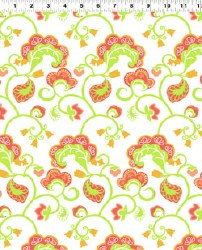 Unity Large Floral White Lime Skinny Bolt