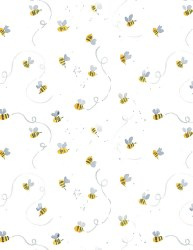 Meant to Bee Busy Bees White