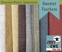 Wool Bundle Rooster Feathers