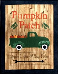 Pumpkin Patch Sign Pattern