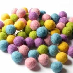 Wool Felt Balls Spring 1 cm