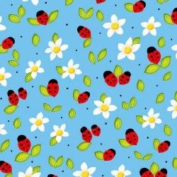Celebrate Summer Ladybugs Blue