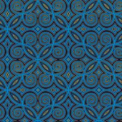 Silent Night Arabesque Blue