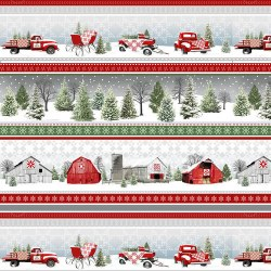 Holiday Heartland Stripe Grey