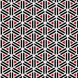 Moroccan Red Geometric