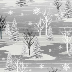 Frosty Folks Flannel Scenic Grey