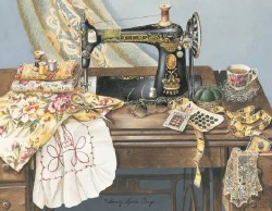 Note Cards Sewing Machine