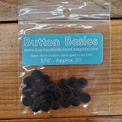 """Buttons - 5/16"""" Black"""