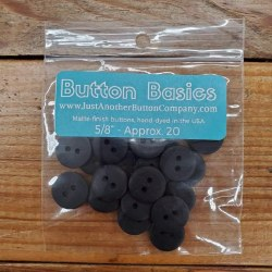 """Buttons - 5/8"""" Black"""
