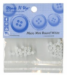 Buttons Micro Mini Round White
