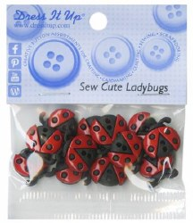 Buttons Sew Cute Ladybugs