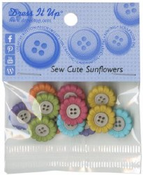 Buttons Sew Cute Sunflowers