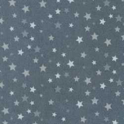 Welcome Baby Flannel Stars Grey