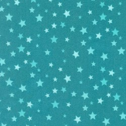 Welcome Baby Flannel Stars Aqua