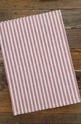 Towel Ticking Red Cream