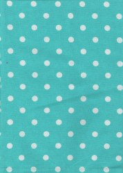 Towel Dot Turquoise White