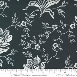 Woodcut Floral 108 Inch Coal