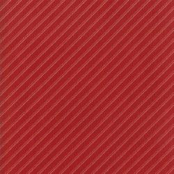 Farmhouse Red Bias Stripe Dark Red